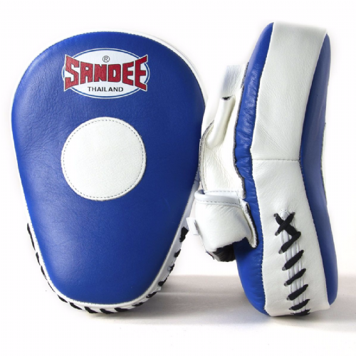 Sandee Curved Focus Mitts - Blue